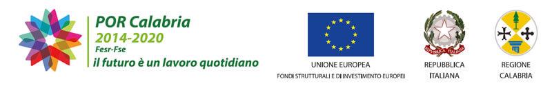 logo por calabria 2014-2020, logo unione europea, logo repubblica italiana, logo regione calabria