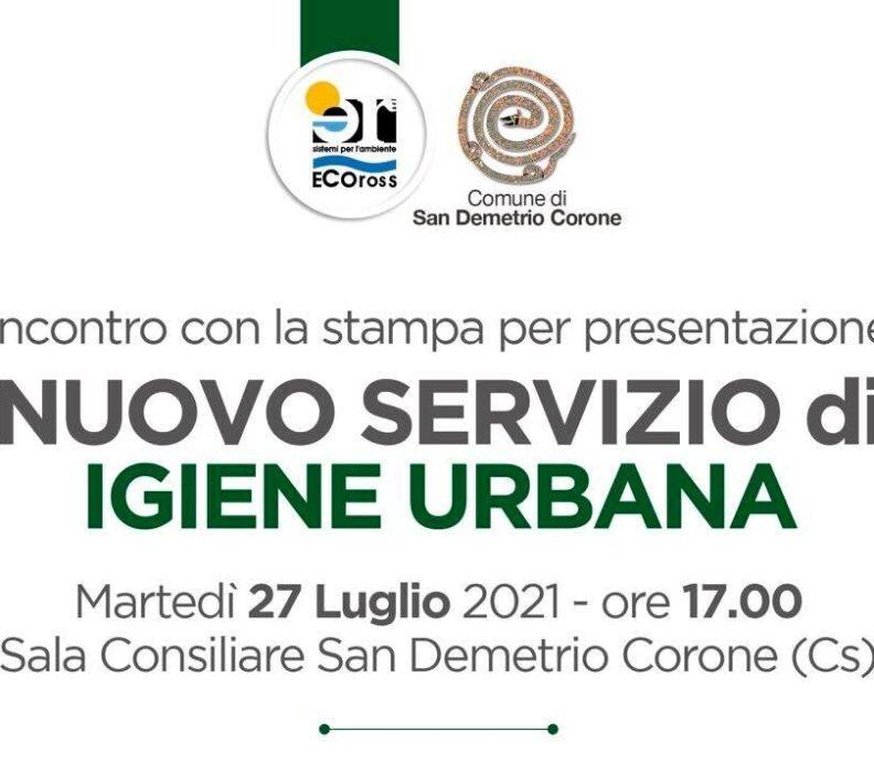 San Demetrio Corone, presentazione del nuovo Servizio di Igiene Urbana